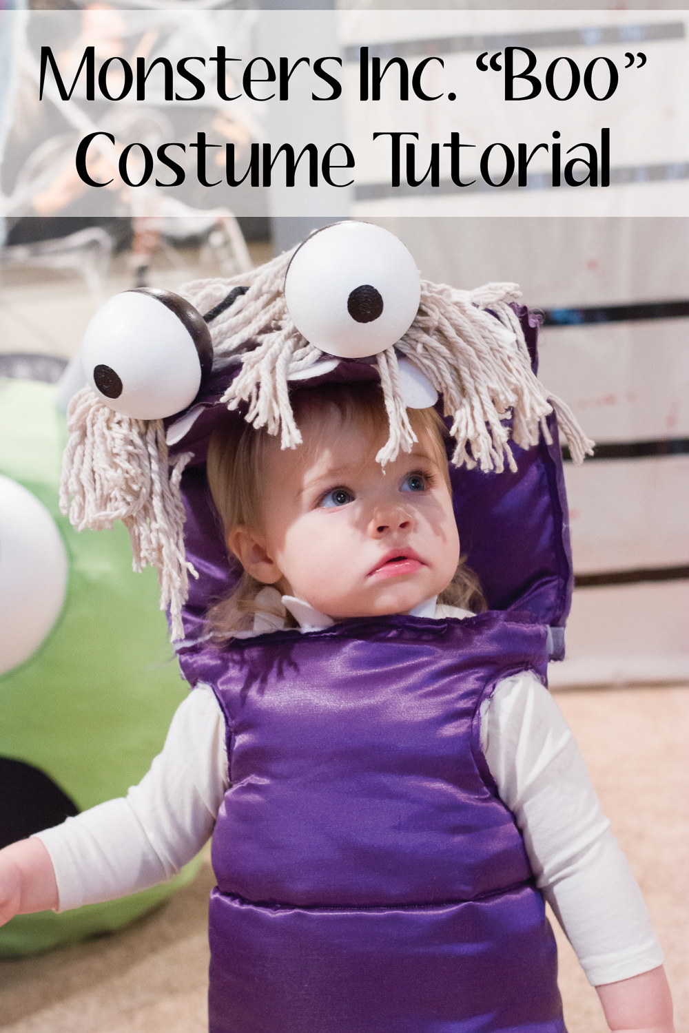Boo Costume Tutorialrev PINIMAGE  sc 1 st  The Manions & Monsters Inc. u201cBoou201d Costume DIY » The Manions