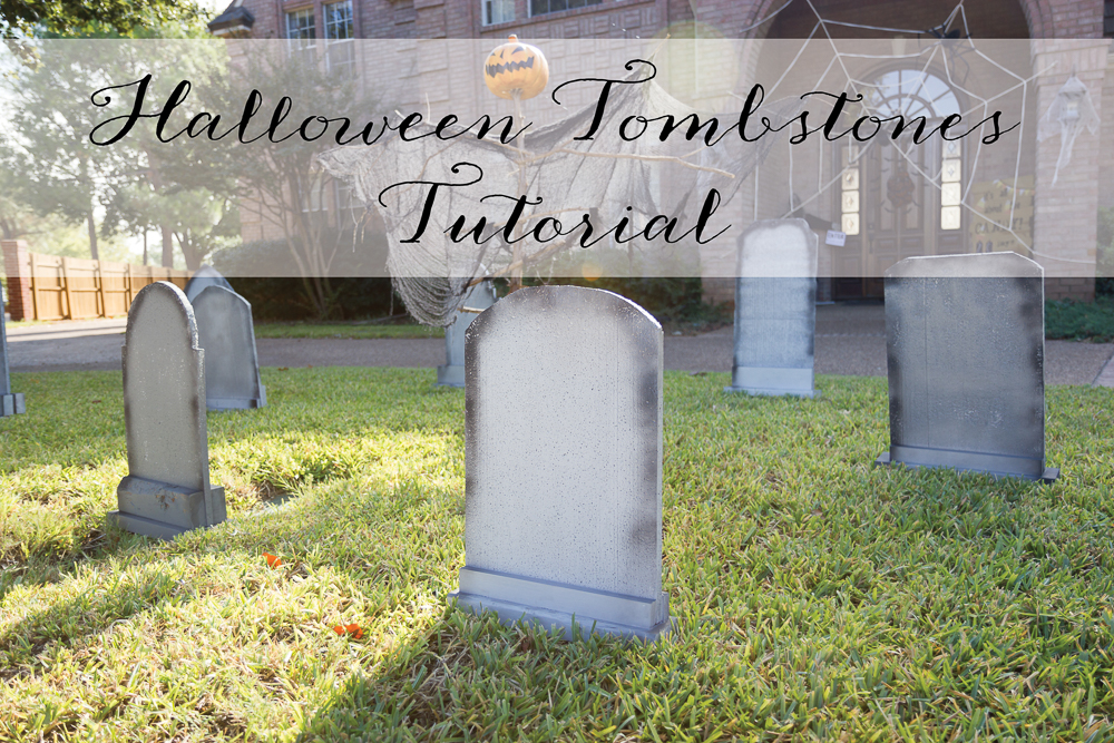 halloween tombstones diy